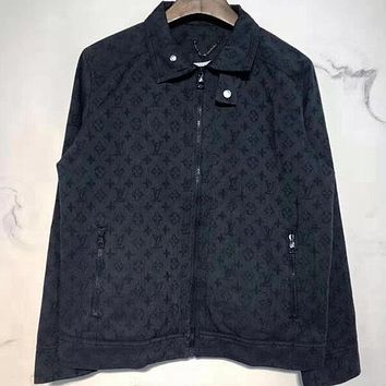 Louis Vuitton LV  Women Men Fashion Casual Denim Cardigan Jacket Coat