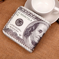 Designer Creative US PU Leather Wallets Men Wallets Dollors Coin Holder Carteira Masculina portefeuille homme IMY66