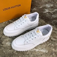 LV Louis Vuitton  Men Fashion Boots fashionable Casual leather Breathable Sneakers Running Shoes