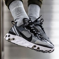 Nike Upcoming React Element 87 ¡°Black&Grey¡± Running Shoes AQ1090-001