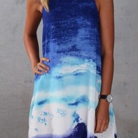 Floating In The Waves Dress - Womens