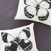 Plum & Bow Butterflies Pillowcase Set- Black & White One