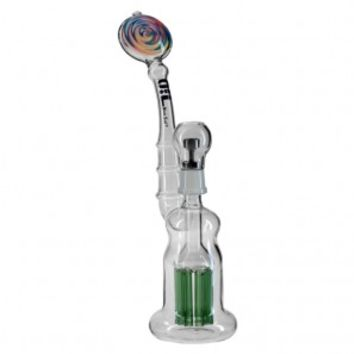 Black Leaf - OiL 8-arm Perc Vapor Bubbler - Dome, Stainless Steel Nail and Slide Bowl - Grasscity.com