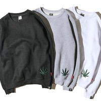 Winter Leaf Couple Pullover Hoodies [10836135751]