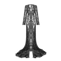 KASSANDRA Lace Mesh Gown