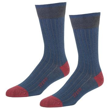 Blue & Red Colorblocked Socks - Marcus