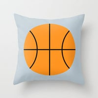 #9 Basketball Throw Pillow by MNML Thing