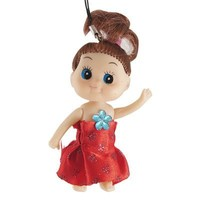 Gino Plastic Red Dressed Girl Doll Pendant Strap for Mp4 Phone