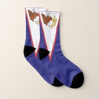 All Over Print Socks with Flag of American Samoa