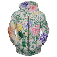 Abstract flower hoodie