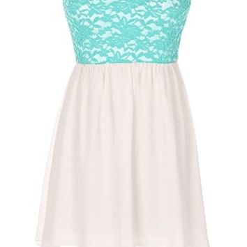 The Strapless Lace Mint Dress - 29 N Under