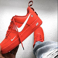 NIKE AIR FORCE 1 AF1 ladies and men's low-top casual sneakers shoes