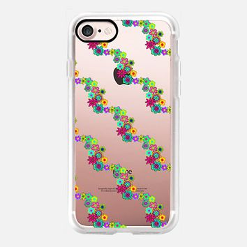 Flower Power Diagonal Stripes iPhone 7 Case by Lisa Argyropoulos | Casetify