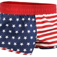 American Flag Women's Printed Shorts (Medium)
