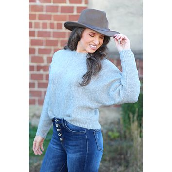 {H. Grey} Soft Dolman Sleeve Sweater