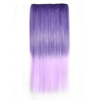 Hot Deal Hot Sale Beauty Sexy On Sale Wigs Ladies Dark Purple Gradient Pale Violet Clip Straight Hair Hair Extensions [4923184836]
