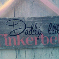 Girls Bedroom Sign GLITTER Pink Baby Girls room Daddy's Little girl Wood Sign Pink & Gray Bedroom wall art