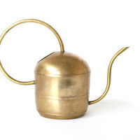 BRONZE WATERING CAN, Elegant Spout and Handle, German Mid Century Modern, Brass Watering Can, 1960s or 1970s, Discovered in Switzerland