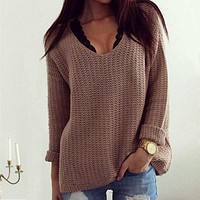 Casual Womens Long Sleeve Knitwear Jumper Cardigan Coat Jacket Sweater Pullover Gift