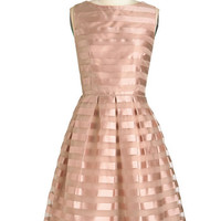 Vintage Inspired Long Sleeveless A-line Dinner and Romancing Dress