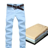 New male work dress casual pants slim fit straight trousers men men's clothing pantalones hombre
