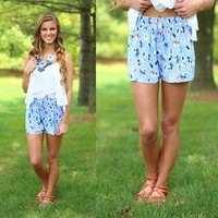 Pretty in Periwinkle Shorts