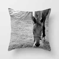 Horse in the Meadow  Throw Pillow by maddylane