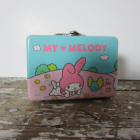 Tiny My Melody Tin Lunch Box Collectible My Melody Tin 1976 Hello Kitty Collectible Tin Sanrio My Melody