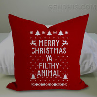 Merry CHRISTMAS Ya FILTHY Animal  Case, Pillow Cover, Custom Pillow Case