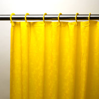 """Royal Bath 3D Effect Embossed 5-Gauge PEVA Shower Curtain with Built-in Hooks (70"""" x 72"""") - Yellow"""