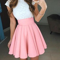 Summer New Style Fashion Skirt women Cute Candy Color Fluffy Skirt Swing Skirts for Ladies Girls