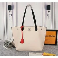 LV Louis Vuitton Taurillon LEATHER LOCKME HANDBAG TOTE BAG