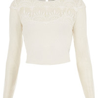 Embroidered Crop Top - Tops - Clothing - Topshop USA