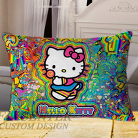 Hello Kitty on Rectangle Pillow Cover