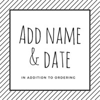 ADD ON for Name & Date
