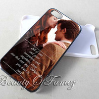 Dr Who Matt Smith And Amy Pond Kiss Quote for iPhone 4, iPhone 4s, iPhone 5, iPhone 5s, iPhone 5c Samsung Galaxy S3, Samsung Galaxy S4 Case