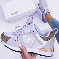 LV Louis Vuitton Fashionable Women Men Leisure Sport Shoes Sneakers