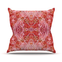"""Nikposium """"Chili"""" Pink Red Outdoor Throw Pillow"""