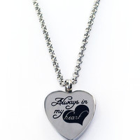 Always In My Heart Pendant Necklace Urn + Kit