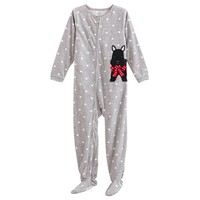Carter's Dotted Terrier Footed Pajamas - Girls