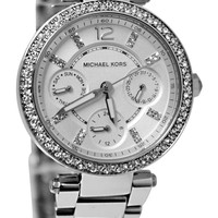 Michael Kors Women's Chronograph Mini Parker Stainless Steel Bracelet Watch 33mm MK5615