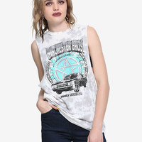 Supernatural Winchester Brothers Baby Bleach Wash Girls Muscle Top