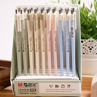MiiSii(TM) 8pcs Retractable 0.5mm Mechanical Pencils Set Refill Cute Cartoon Novelty Grocery House Style + FREE GIFT