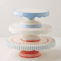 Scalloped Celebration Cake Stand by Camp Home Multi