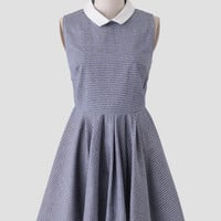 Prepster Chambray Striped Dress