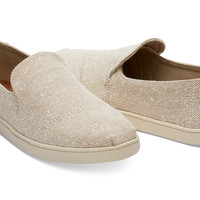NATURAL METALLIC LINEN WOMEN'S DECONSTRUCTED CUPSOLE ALPARGATAS