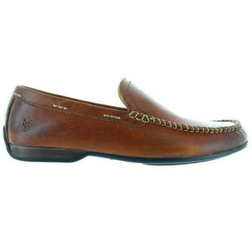 CREYONIG Frye Boot Lewis Venetian - Brown Leather Moccasin Loafer