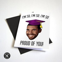 So Proud of You - Hip Hop Rap Graduation Card - Good Job Congratulations Card 4.5 X 6.25 Inches