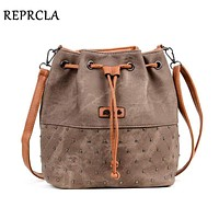 Women Bucket Style Drawstring Cross Body Bag