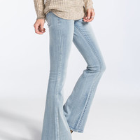 Rsq Venice Womens Flare Jeans Light Blast  In Sizes